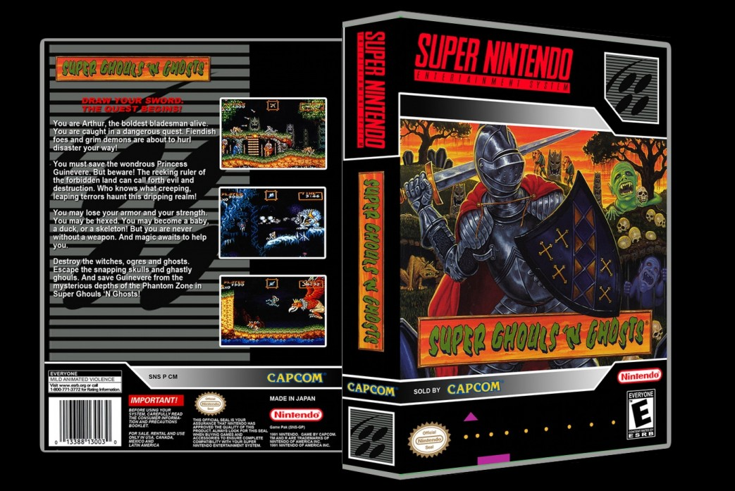 Super Ghouls and Ghosts -  Game Case