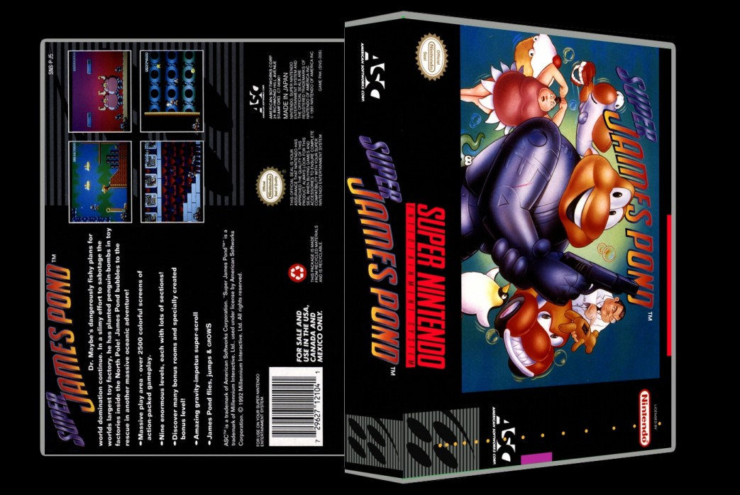 Super James Pond -  Game Case