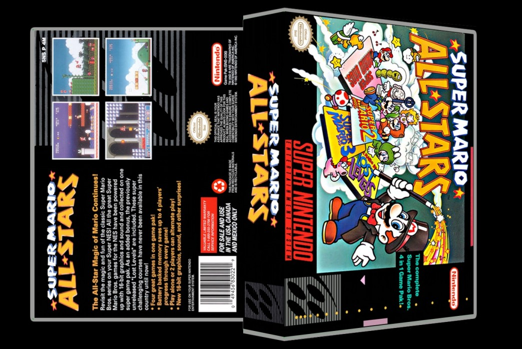 Super Mario All Stars -  Game Case