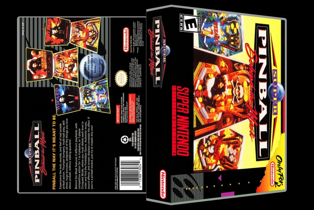 Super Pinball: Behind the Mask -  Game Case
