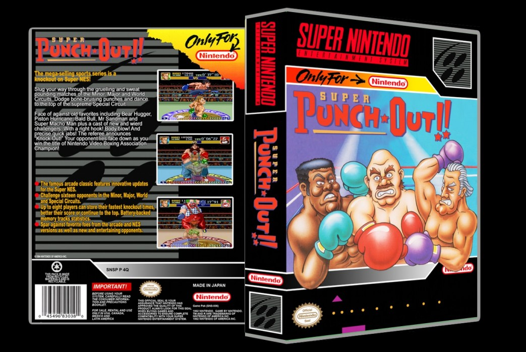Super Punch Out -  Game Case