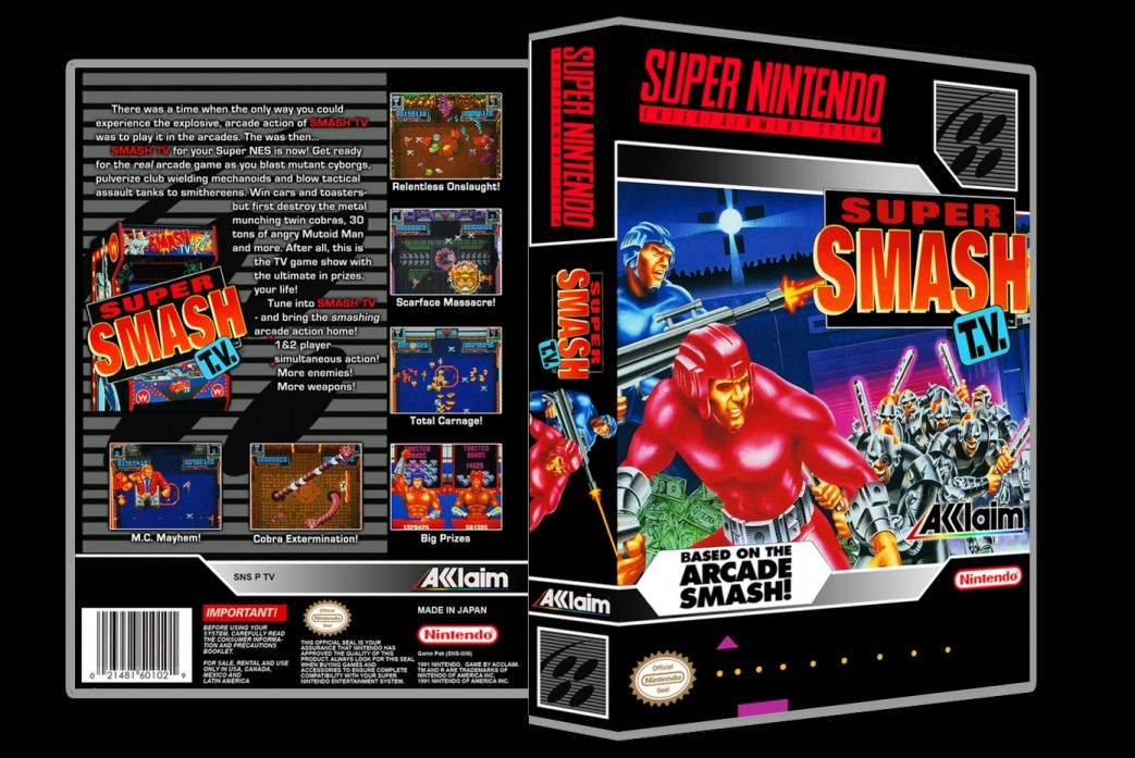 Super Smash TV -  Game Case