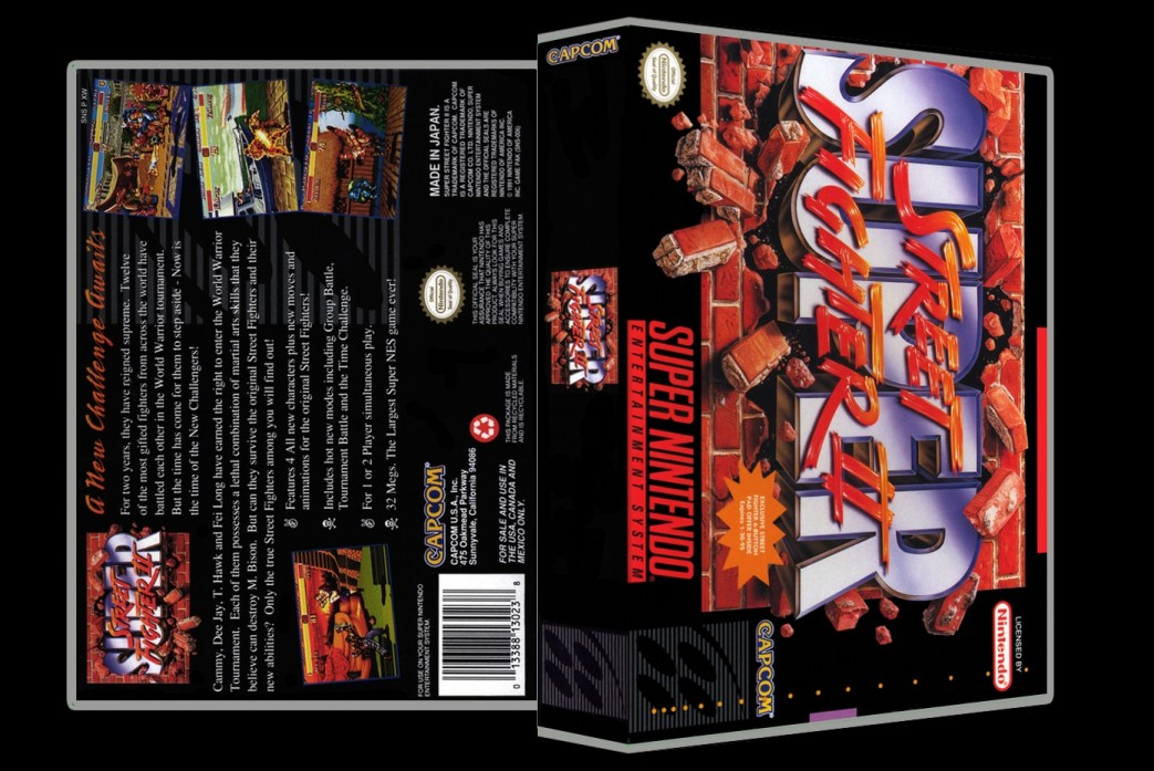 Super Street Fighter II -  Game Case