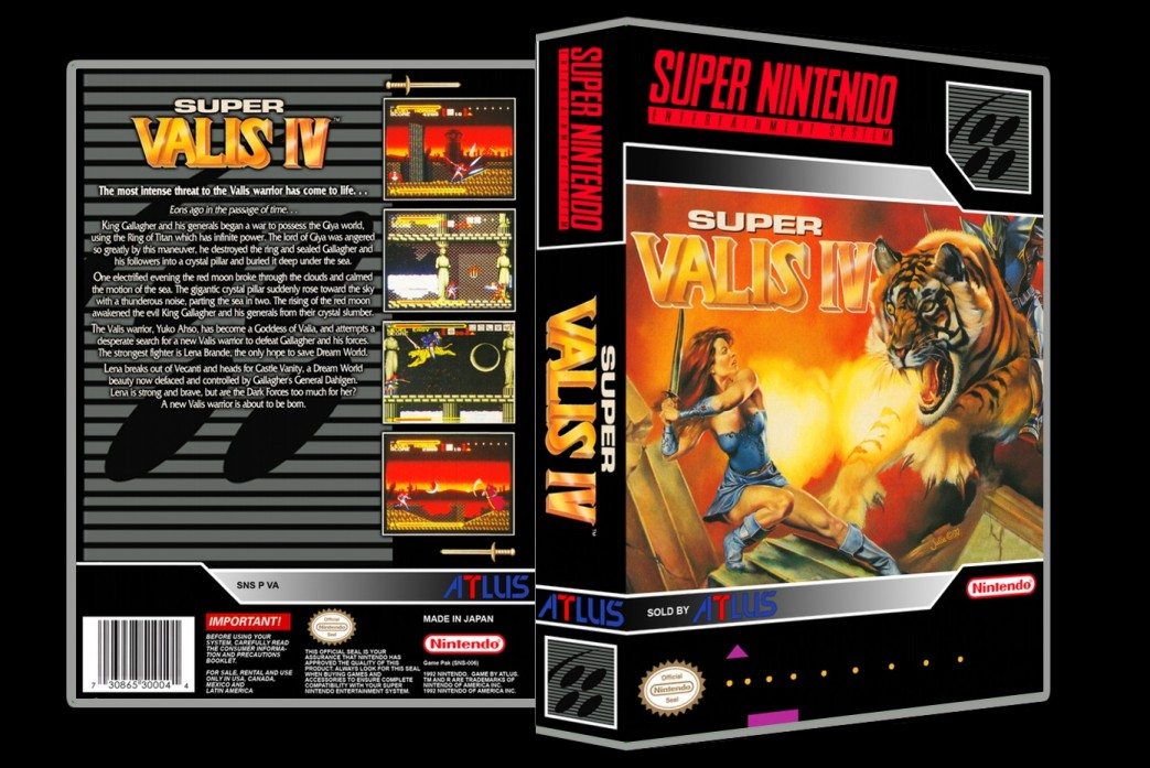 Super Valis IV -  Game Case