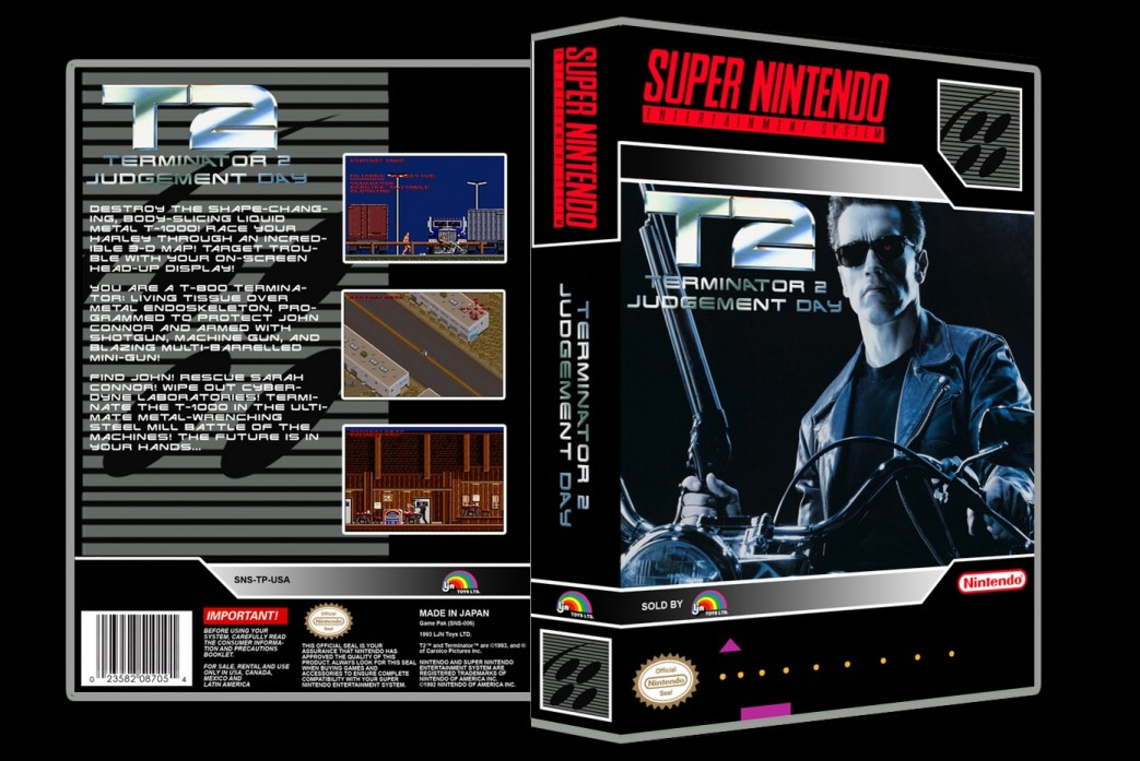 Terminator 2: Judgement Day -  Game Case