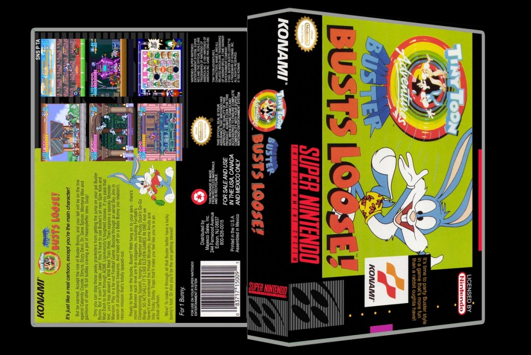 Tiny Toon Adventures: Buster Busts Loose -  Game Case
