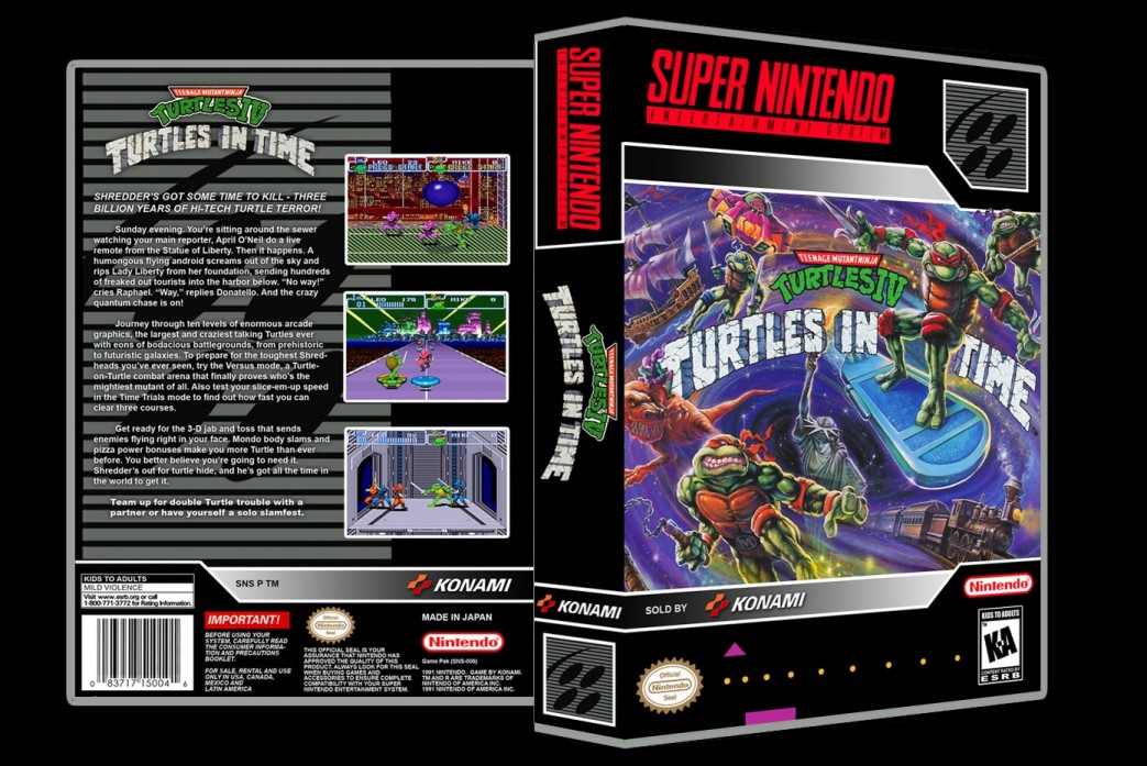 TMNT IV: Turtles in Time -  Game Case