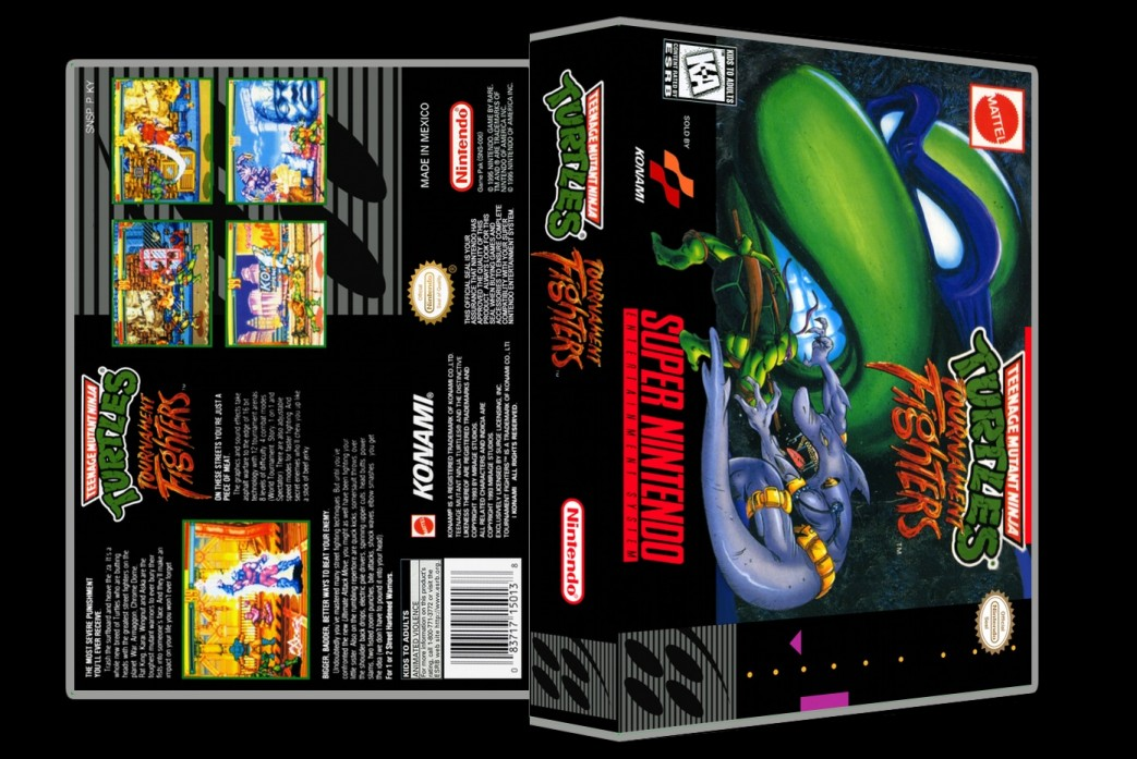 TMNT Tournament Fighters -  Game Case