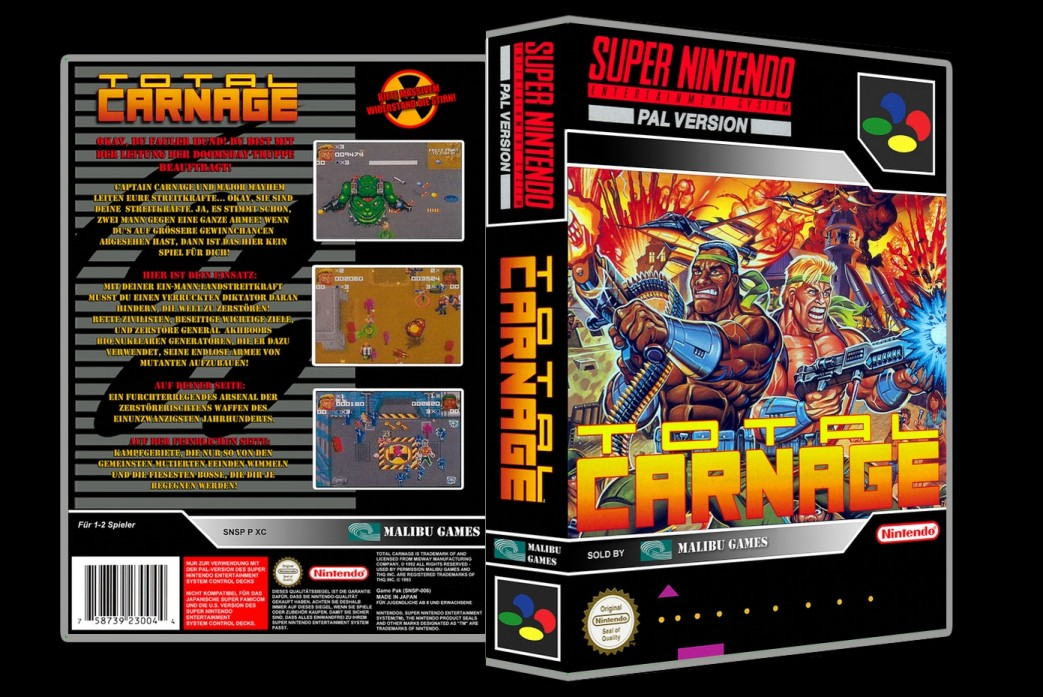 Total Carnage -  Game Case