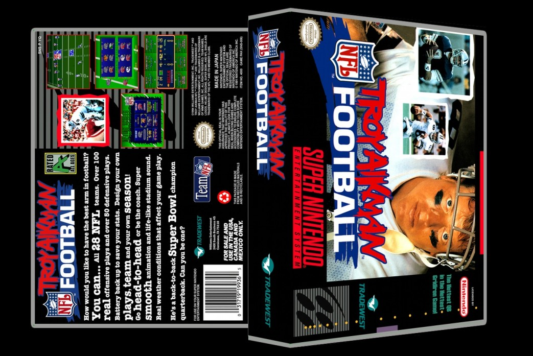 Troy Aikman Football -  Game Case