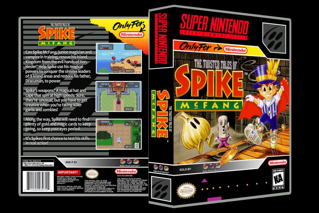 Twisted Tales of Spike McFang -  Game Case