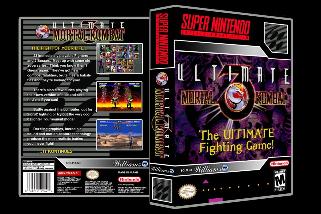 Ultimate Mortal Kombat 3 -  Game Case