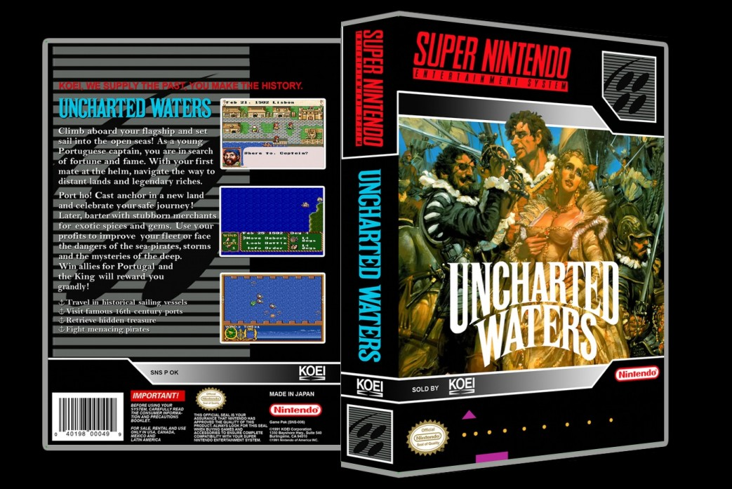 Uncharted Waters -  Game Case