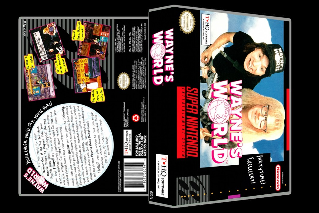 Wayne's World -  Game Case