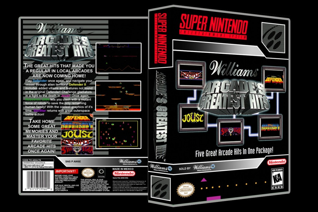 Williams Arcade Greatest Hits -  Game Case