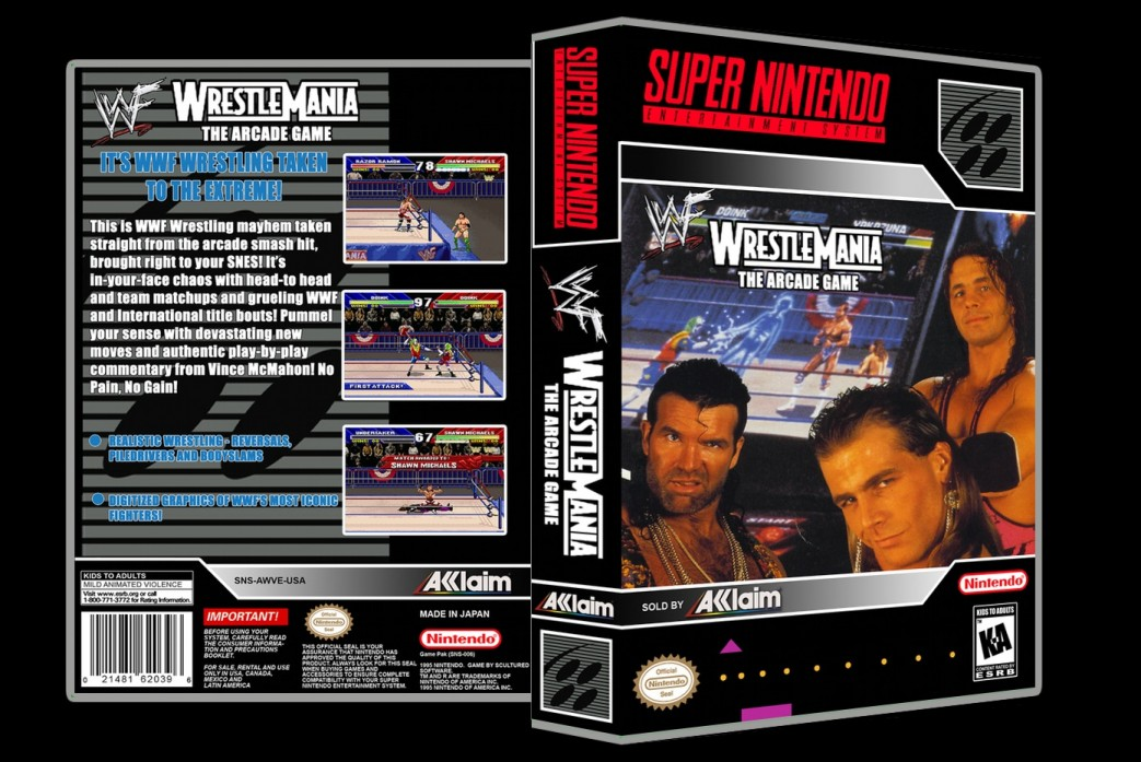 WWF Wrestlemania: The Arcade Game -  Game Case