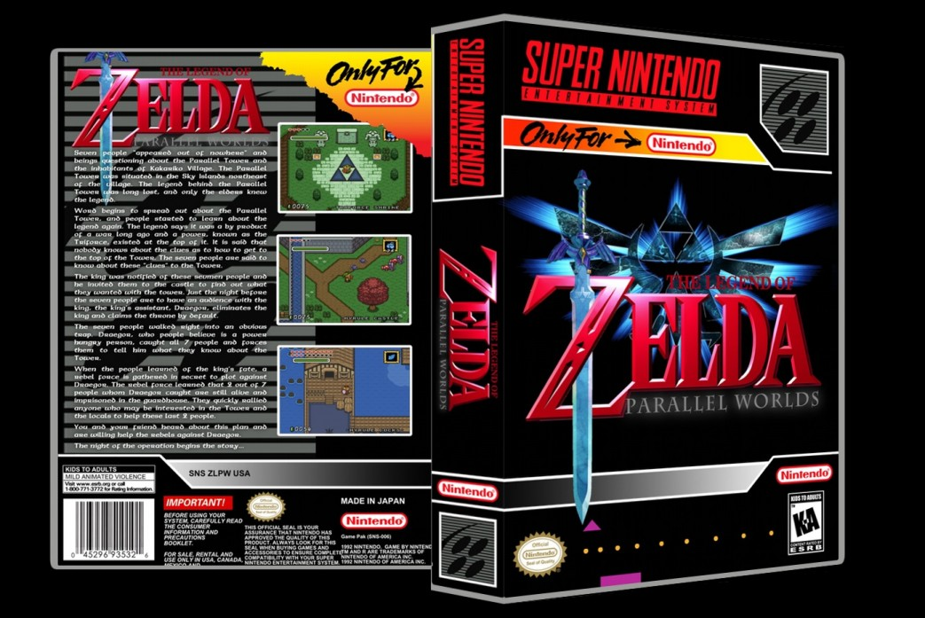 Legend of Zelda: Parallel Worlds -  Game Case